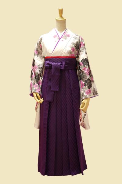 小袖OM-4 袴矢がすり紫